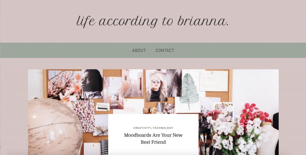 Screenshot of Student Website