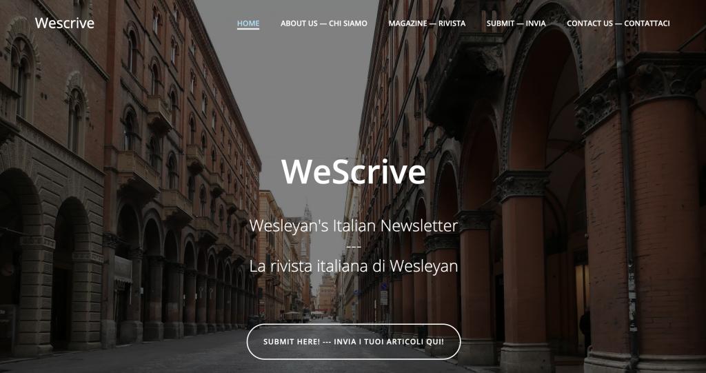 Screenshot of Wescrive Website