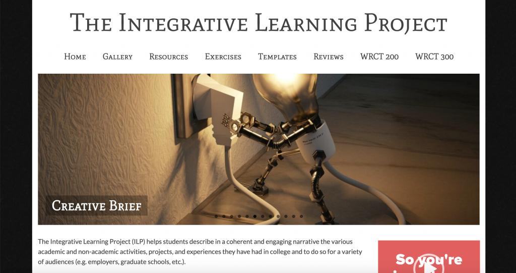 Screenshot of ILP Course Website
